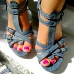 Baťa – páskové kožené sandály