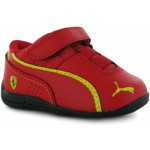 Puma D Cat Leather Scuderia Ferrari Infants Trainers Rosso